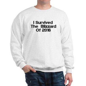 I SURVIVED THE BLIZZARD OF 2016 SWEATSHIRT