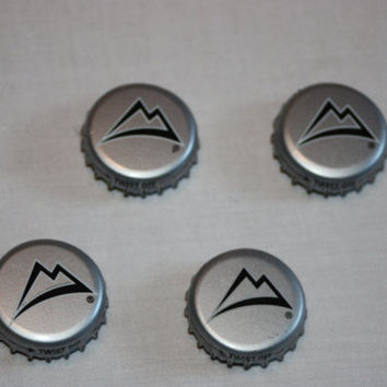 Coors Mountain Bottle Cap Magnets - Recycled