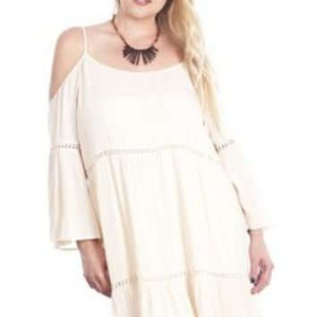 Bohemian Dream Off-the-Shoulder Peasant Dress in Cream | Sincerely Sweet Boutique