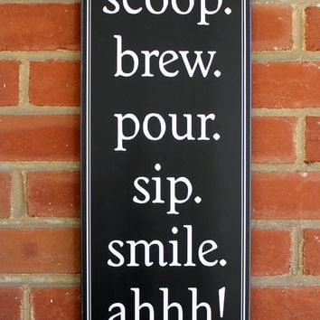 Coffee Wood Sign Kitchen Wall Decor Home Decor - Wall Art - Funny Coffee Sign - Good Morning Saying