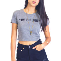 On the Run Crop Tee