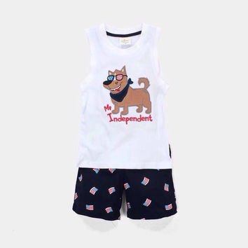 Mr. Independent -Patriotic Baby/Toddler Boys 2pc, Tank Top with Shorts