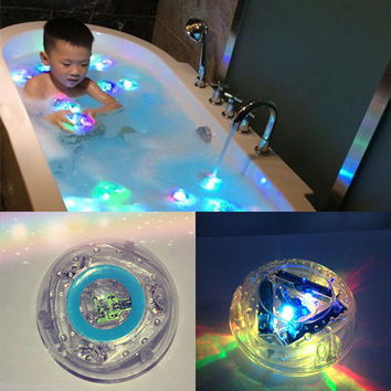Colorful LED Light Baby Toys Funny Bathroom Toys Waterpro in Tub Kids Toys Bath Toys