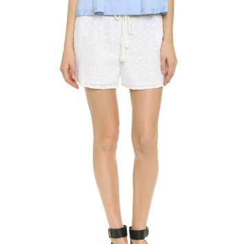 House of Harlow 1960 Olvera Geo Clipped Jacquard Shorts