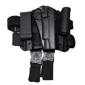 CQC Thigh 1911 Holster Military tactical Hunting Drop Leg Holster for Gun Colt 1911 Holsters Black color RIght leg holsters