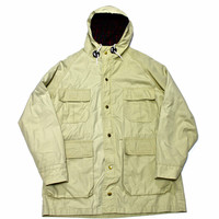 Vintage Tan Plaid Lined Parka Mens Size Large