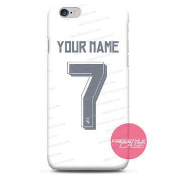 Real Madrid Custom Name Jersey Adidas iPhone Case 3, 4, 5, 6, 6s, 6 Plus Case Cover