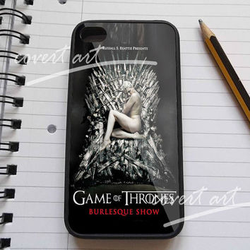 Funny Miley Cyrus game of throns iPhone 4 / 4S / 5 / 5c /  5s Case Samsung Galaxy S3 / S4 Case