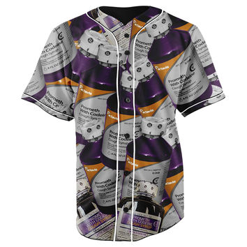 Codeine Compilation Button Up Baseball Jersey