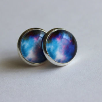 Galaxy Stud Earrings, Galaxy Stud Earring, Cosmic Earrings, Space Galaxy Earrings, Star Stud Earrings, Galaxy Jewelry, Star Jewelry