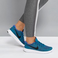 Nike Free Run Trainers In Blue at asos.com