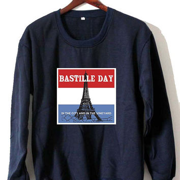 bastille day Sweatshirt Crewneck Men or Women Unisex Size