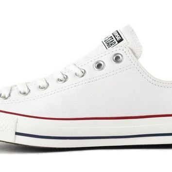 Beauty Ticks Converse Unisex: Ct Ox White Leather Sneaker