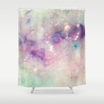 The colors of the galaxy Shower Curtain by Barruf Designs