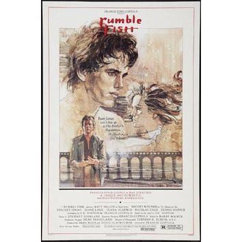 Rumble Fish Movie poster Metal Sign Wall Art 8in x 12in