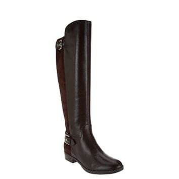 Marc Fisher Damsel Wide Calf Dark Brown Tall Shaft Leather Boots size 6W