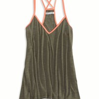 AEO Women's Contrast Trim V-neck Tank