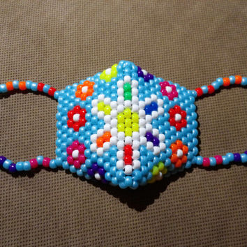Neon Daisy Raver Cyber Mask