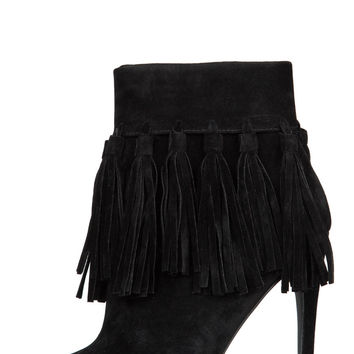 Privileged Cortez Fringe Booties (Black)