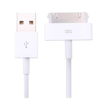 1M 6PIN Data Sync USB Mobile Phone charger Cable (Size: 1m, Color: White)
