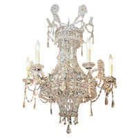 18TH C. CRYSTAL BASKET CHANDELIER