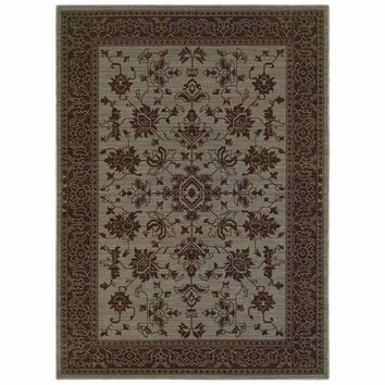 Foundry Blue Grey Oriental Persian Traditional Rug