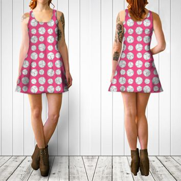Pink volleyball dress Flare dress