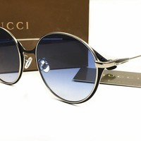Gucci Classic Vintage Round Mirror Brand Designer Sunglasses Metal Lady Circle Retro UV400 Women Or Men  Sun Glasses Rays Victory [2974244570]