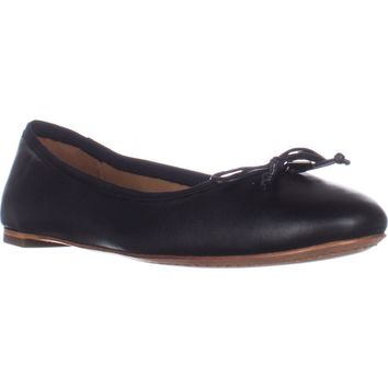 Coach Flatiron Bow Detail Ballet Flats, Black, 6.5 US