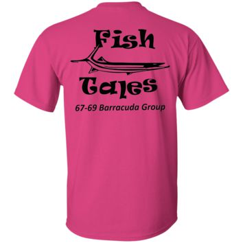 Fish Tales Barracuda Group Shirts Black Logo on BACK ONLY