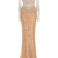 Baby Jane Beaded Sheer Dress | Moda Operandi