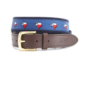 Texas Canvas Club Belt