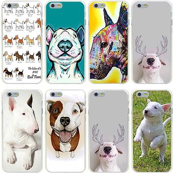 38GG bull terrier Hard Transparent Cover Case for iphone 4 4s 5 5s se 6 6s 8 plus 7 7 Plus X