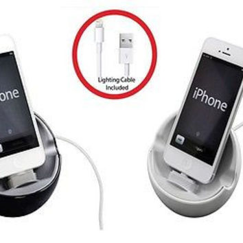 Ppyple Swivel Sync and Charge Dock Stand for iPhone 6, 6S, 5S, 5C, 5 and iPod Touch 5G