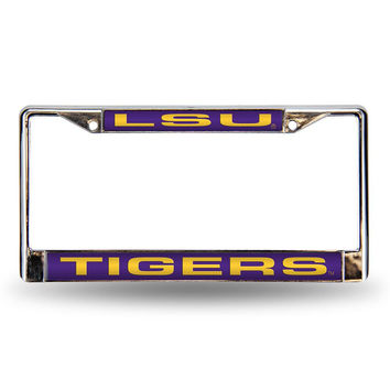 LSU Tigers NCAA Laser Chrome Frame