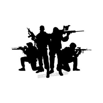 Soldier Silhouette DIY Wall Sticker Vinyl Art Boys Room Decor Decals Removable Caligraphy Home Decoration Cut Wallpaper H257