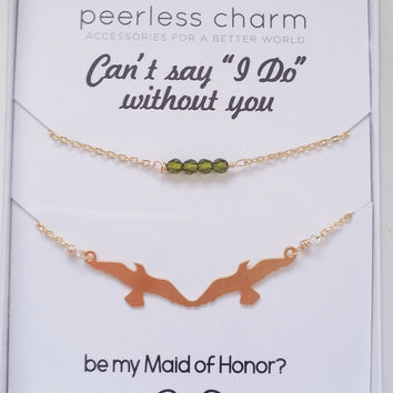 Customize Your Maid of Honor Proposal Necklace