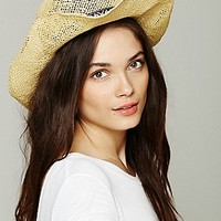 Open Weave Straw Cowboy Hat at Free People Clothing Boutique