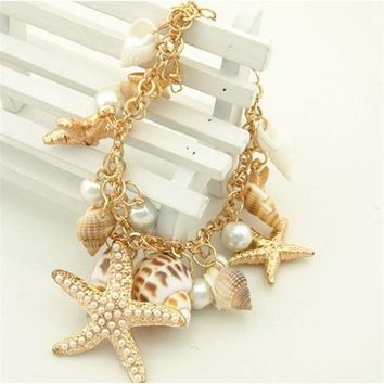 Ocean Sea Shell Starfish Bracelets