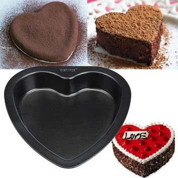 DCCKFS2 7-inch Heart-shaped Cake Mold Baking Tools For Cakes Carbon Steel Non Stick Bakeware Bread pizza Cake Pan kitchen accessories