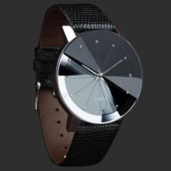 Sports PU Leather Strap Quartz Wristwatch