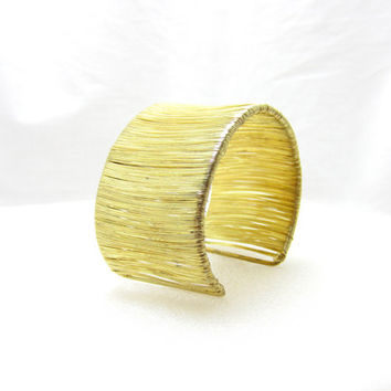 wire wrapped cuff bracelet/ gold wire wrapped cuff bracelet/ statement bracelet/ egyptian bracelet/ thick cuff bracelet/ wire bracelet