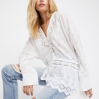 Free People Sweet Sammy Jo Eyelet Tunic