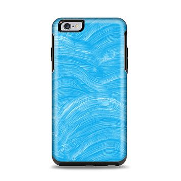 The Blue Painted Brush Texture Apple iPhone 6 Plus Otterbox Symmetry Case Skin Set