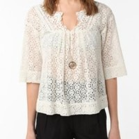 UrbanOutfitters.com > Staring at Stars Eyelet Blouse