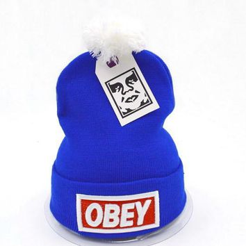 Obey Women Men Embroidery Beanies Knit Wool Hat Cap-8