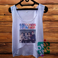 5 Seconds of Summer Band crop tank Women's Cropped Tank Top