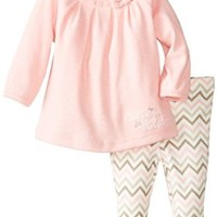 Calvin Klein Baby-Girls Newborn Tunic with Printed Leggings