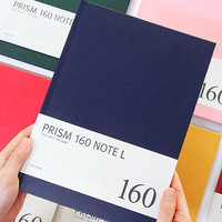Prism 160 pages large lined grid notebook