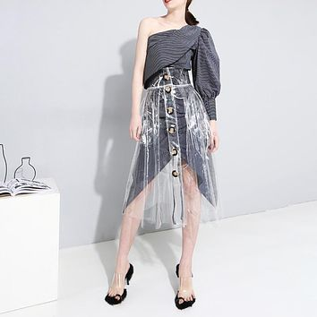 Transparent A-line Skirt